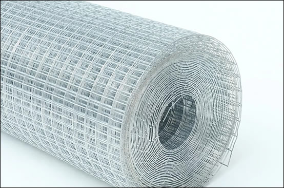 Galvanized wire mesh welded in square hole, with heavy zinc coating