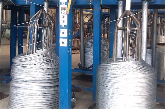 Thermal zinc coated welded mesh
